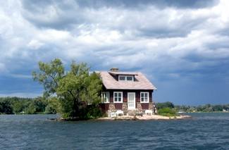 Just Room Enough, is the closest island to the famous Boldt Castle small